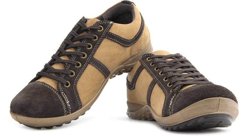 Woodland Sneakers For Men(Beige, Brown)