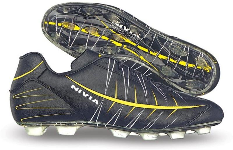 Nivia Premier Cleats Football Shoes For Men(Black)