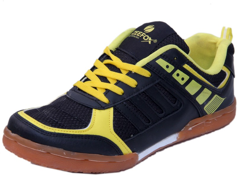 Zeefox Badminton Shoes For Men(Black, Yellow)