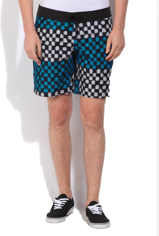 Puma Printed Mens Black, Blue Basic Shorts