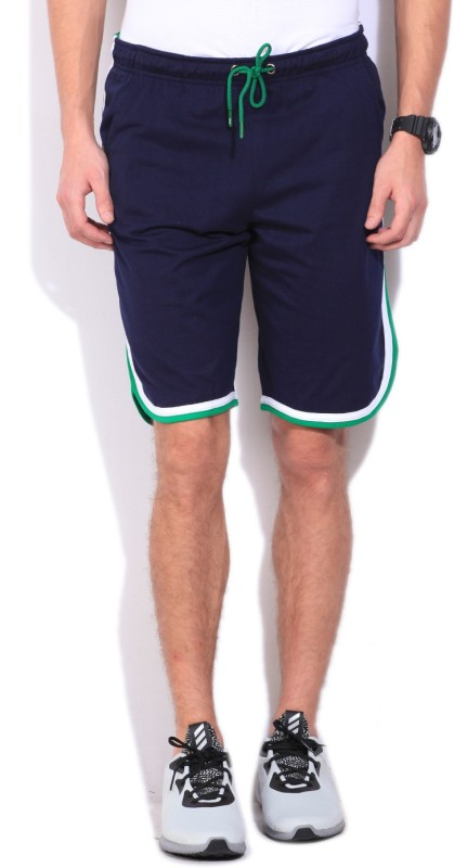 Fila Solid Mens Dark Blue Sports Shorts