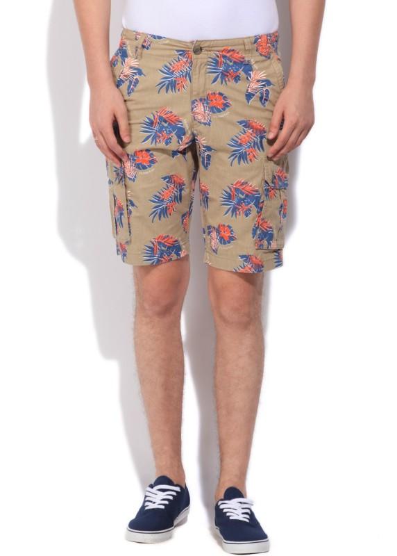 U.S. Polo Assn. Printed Men's Beige Cargo Shorts