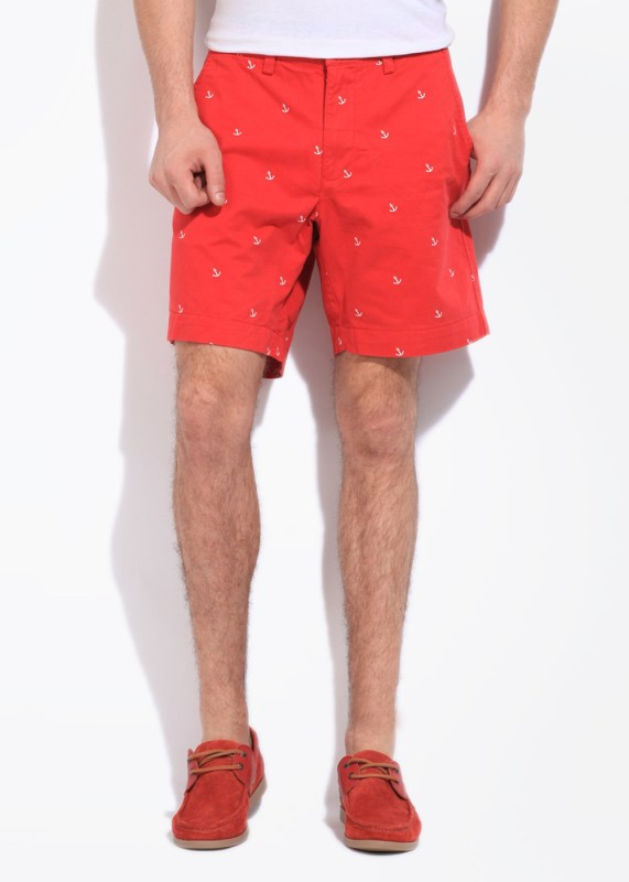 Gant Printed Mens Red Basic Shorts