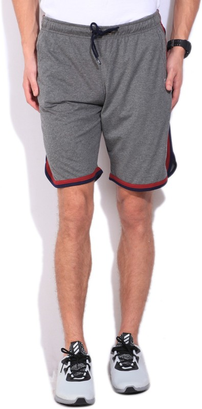 Fila Solid Mens Grey Sports Shorts