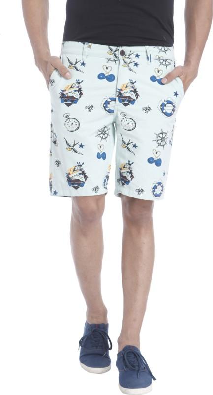 Jack & Jones Printed Men's White Basic Shorts