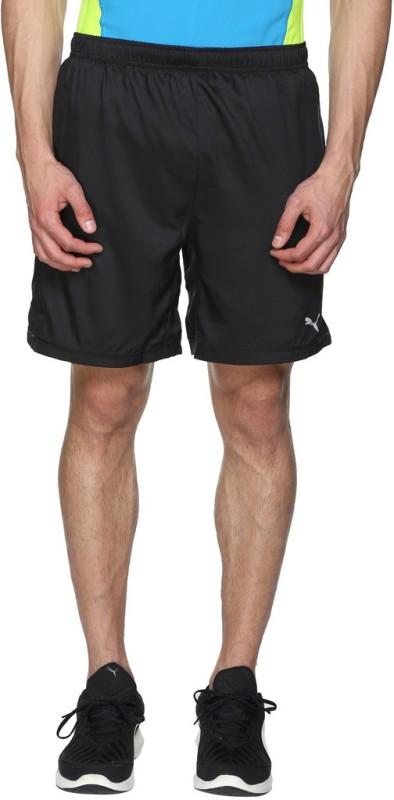 Puma Solid Mens Black Sports Shorts