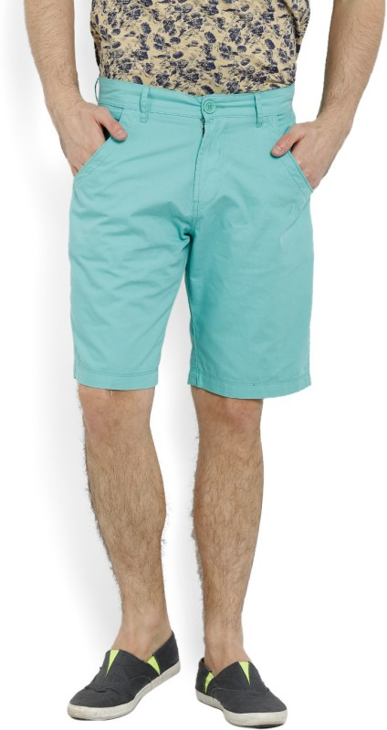 5. Pepe Jeans Solid Men's Green Basic Shorts