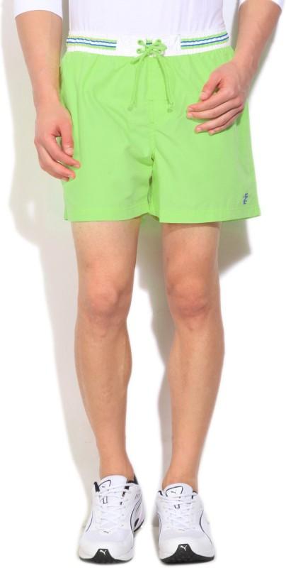 Izod Solid Mens Green Basic Shorts