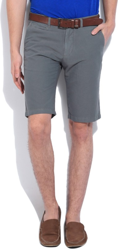United Colors of Benetton. Solid Men's Grey Basic Shorts