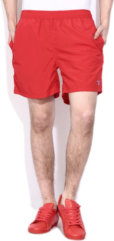Gant Solid Mens Red Sports Shorts