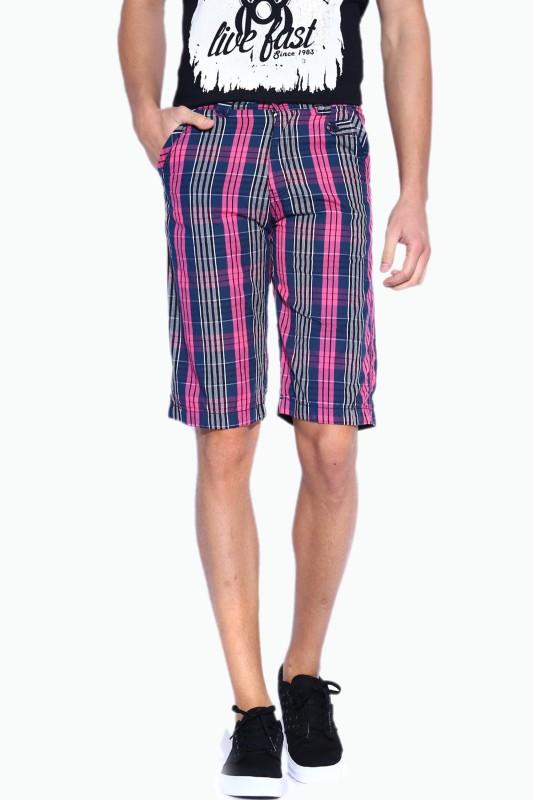 Sports 52 Wear Checkered Men's Blue Basic Shorts
