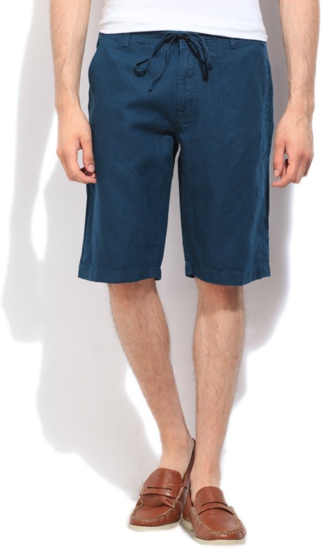 Nautica Solid Men's Blue Basic Shorts