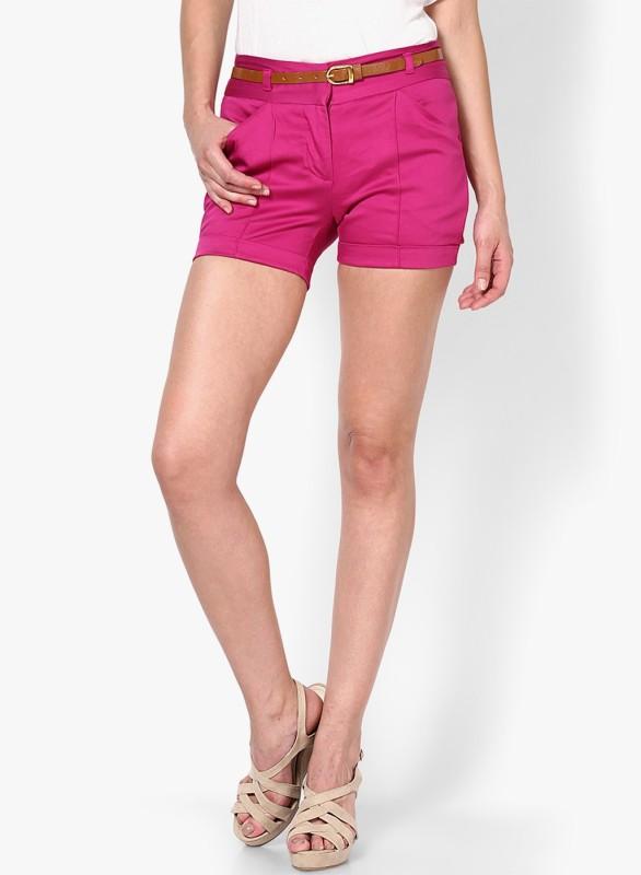 Vero Moda Solid Women's Pink Chino Shorts
