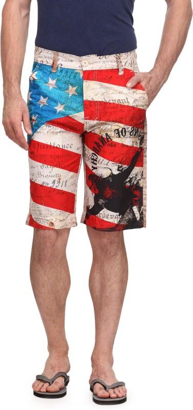 Flippd Printed Men's Multicolor Beach Shorts