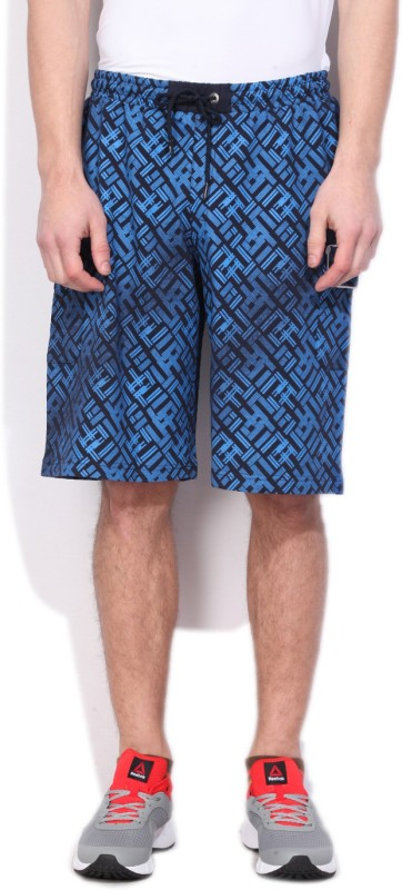 Fila Printed Mens Blue Basic Shorts