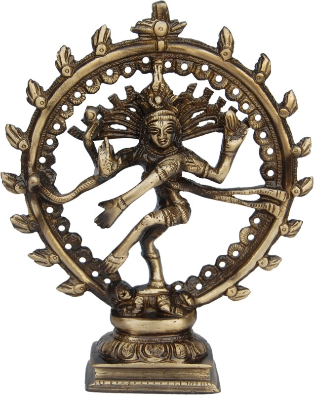 Aakrati Natraj (Lord Shiva) Brass Made Religious Purpose Statue Showpiece - 16.51...