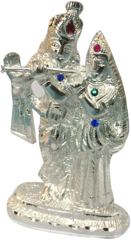 Craft India Radha Krishan Idol Decorative Showpiece  -  14 cm(Brass, Silver)