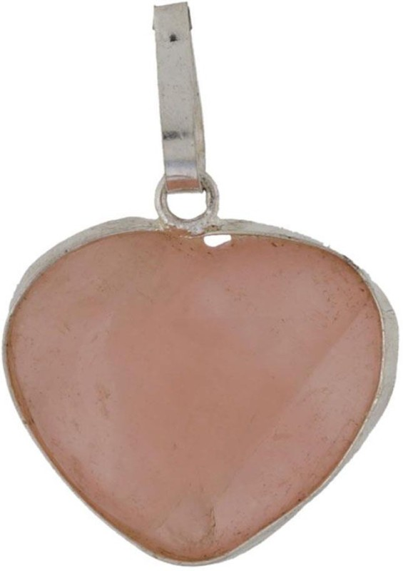 Shopoj Natural Rose Quartz Pendent - Heart Showpiece - 2 cm(Stoneware, Pink)