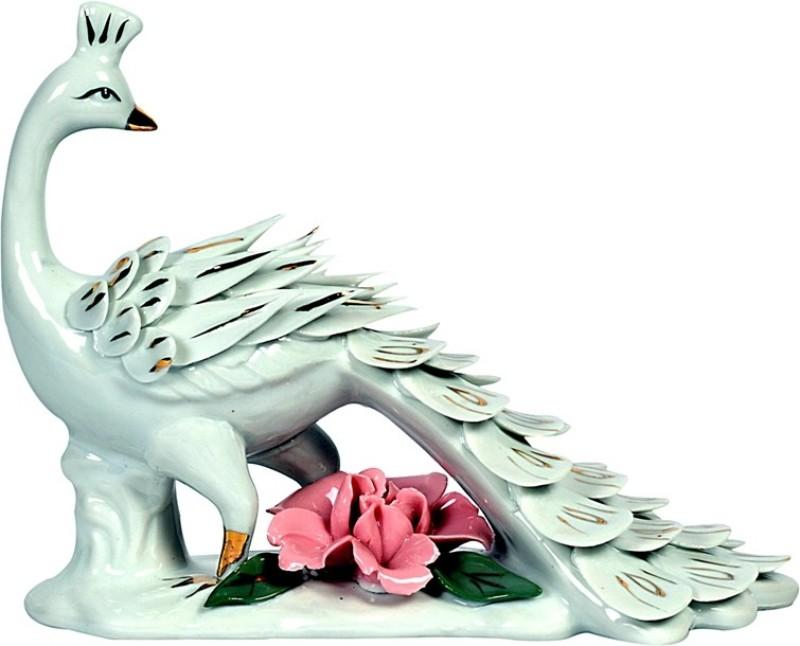 Orchard Decorative Showpiece  -  13 cm(Porcelain, White)