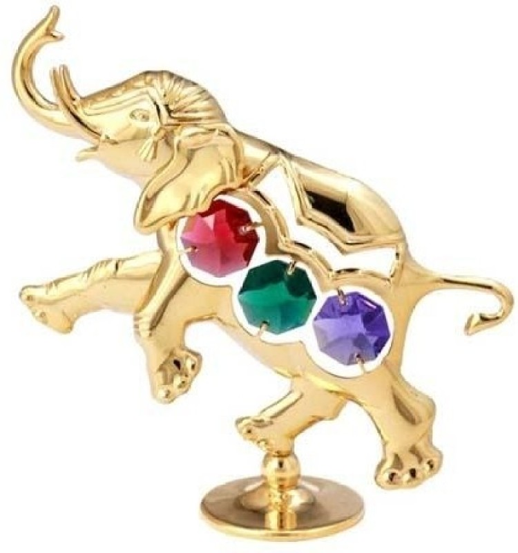 Crystocraft Decorative Showpiece  -  9.5 cm(Gold Plated, Multicolor)