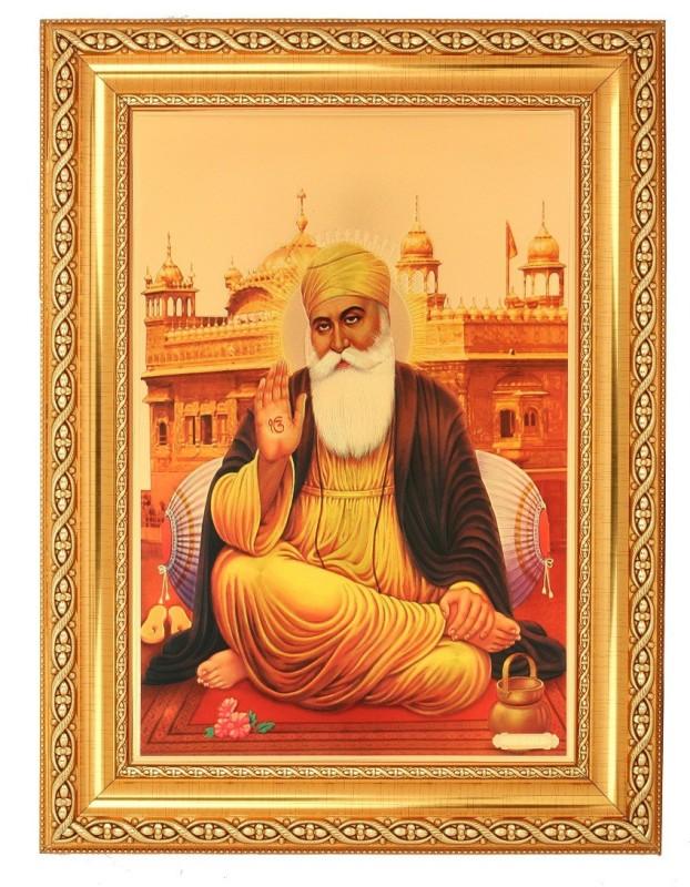 BM Traders Guru Nanakdevji Decorative Showpiece  -  40.64 cm(Wood, Plastic, Gold)