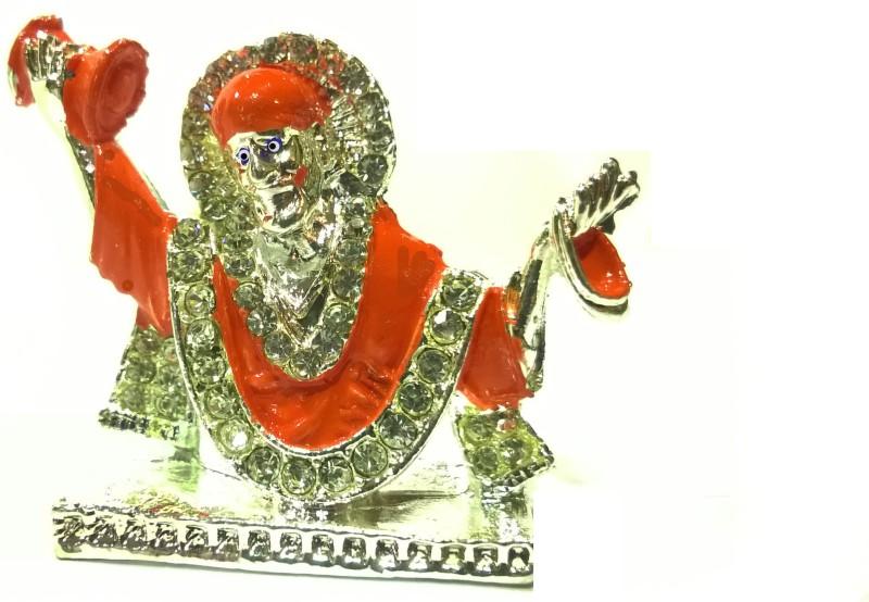 Swarnim Jewellers Sai Baba Decorative Showpiece  -  3.5 cm(Bronze, Orange)
