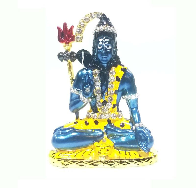 Swarnim Jewellers Stands Decorative Showpiece  -  7.3 cm(Brass, Blue)