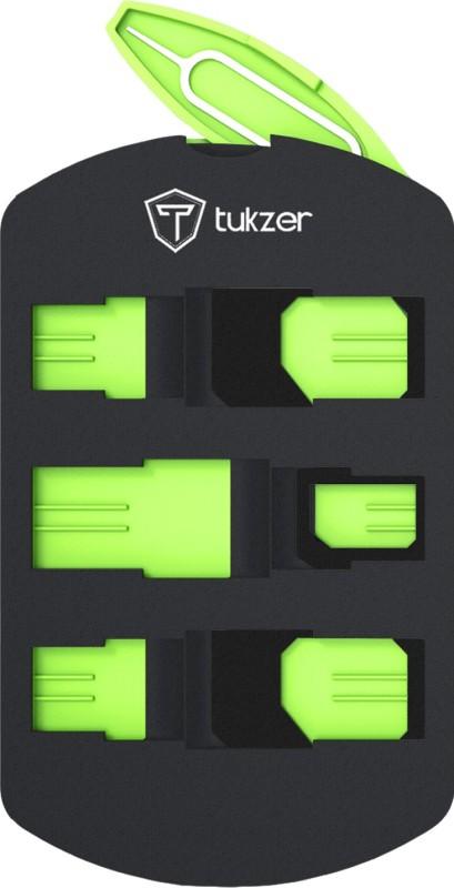 Tukzer UNIVERSAL SIM Adapter Convertor for Micro to Regular, Nano to Micro, Nano to Regular(Standard SIM Formats) + Multi-SIM Cards Holder Kit, Protective Storage Case & SIM Tray Opener Sim Adapter(Plastic)