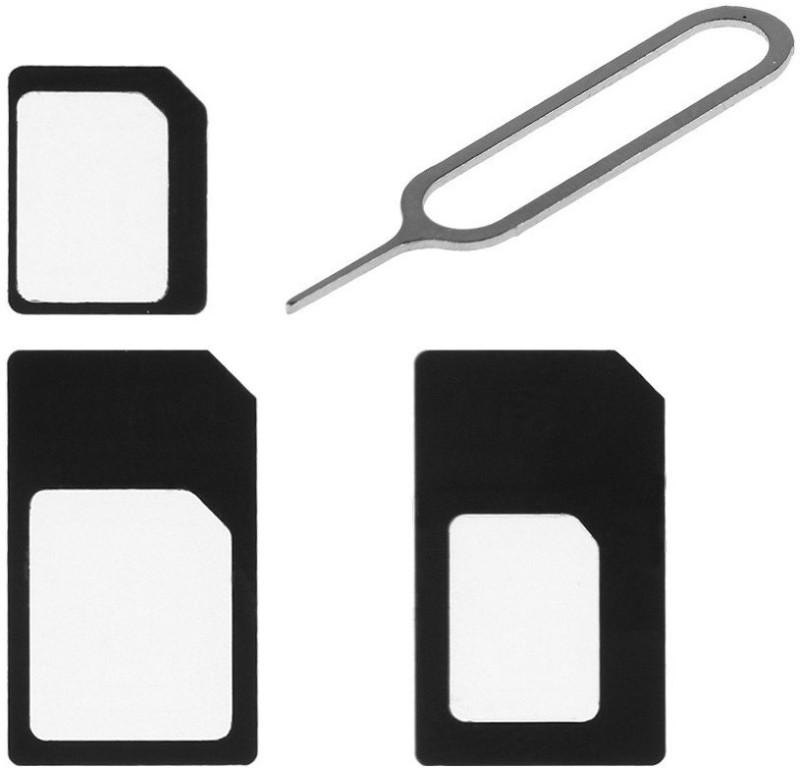 CASVO 800004 Sim Card Adapter Nano to Micro to Regular Sim Adapter(Plastic)