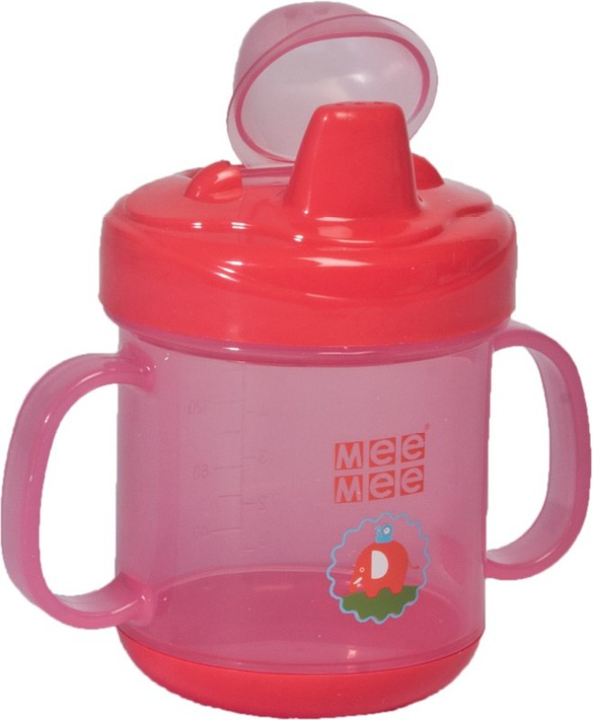 MeeMee Handle Non-Spill Feeding Cup(Red)