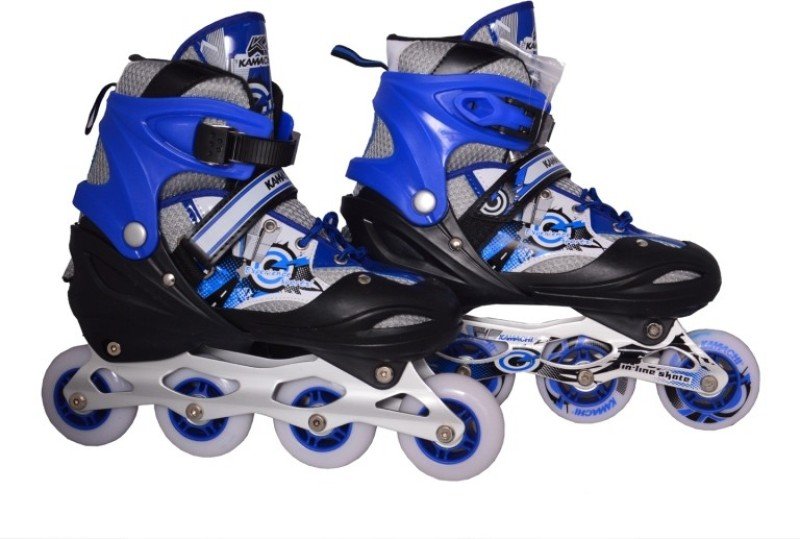 KAMACHI Skt065 In-line Skates - Size 3-7 UK(Blue)