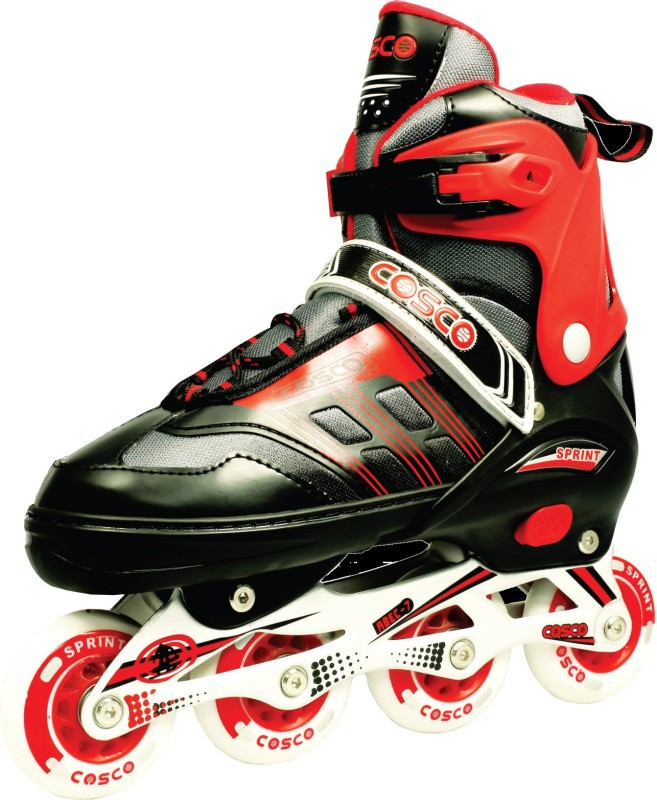 Cosco Inline Sprint M In-line Skates - Size 2-5 UK(Multicolor)