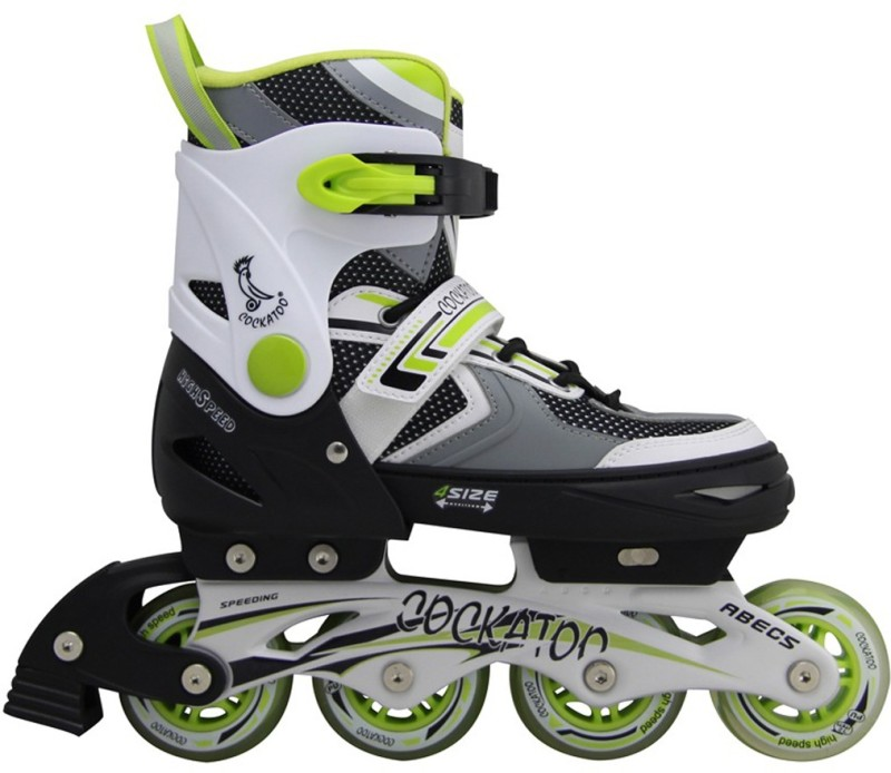 COCKATOO IS03 In-line Skates - Size Medium UK(Black, Green)