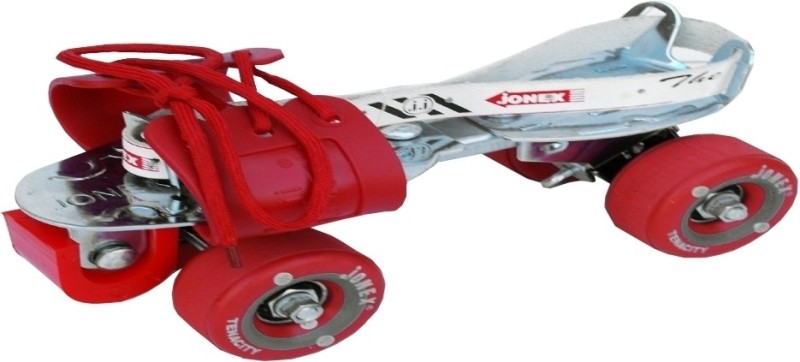 Jonex Tenacity Quad Roller Skates - Size 2.5-9.5 UK(Red)