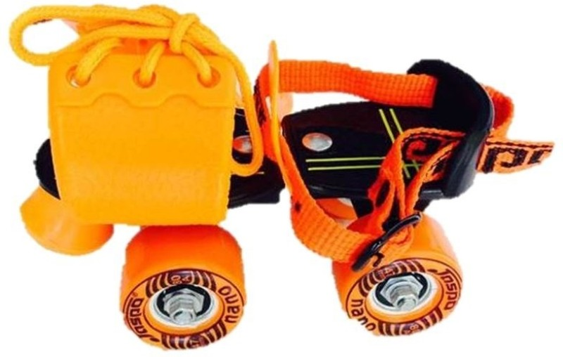 Jaspo Corby Quad Roller Skates - Size 11-13 UK(Black, Orange)
