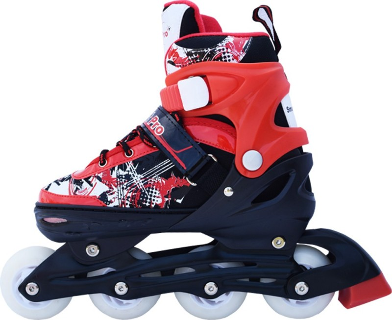 Smart Pro 1163 Red Large In-line Skates - Size 3.5-5.5 UK(Red)
