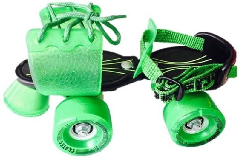 Jaspo Marshal Quad Roller Skates - Size 1-5 UK(Black, Green)