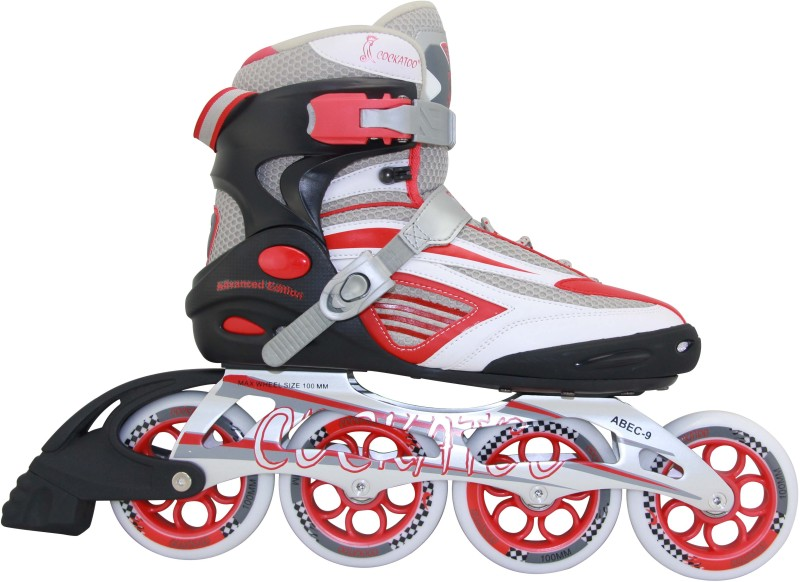 COCKATOO Fourty Three In-line Skates - Size 9 UK(Black, Red)