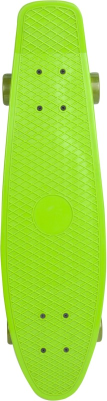 Yonker Plastic Skateboard Junior With Textured Surface 6 inch x 22 inch Skateboard(Green, Pack of 1)