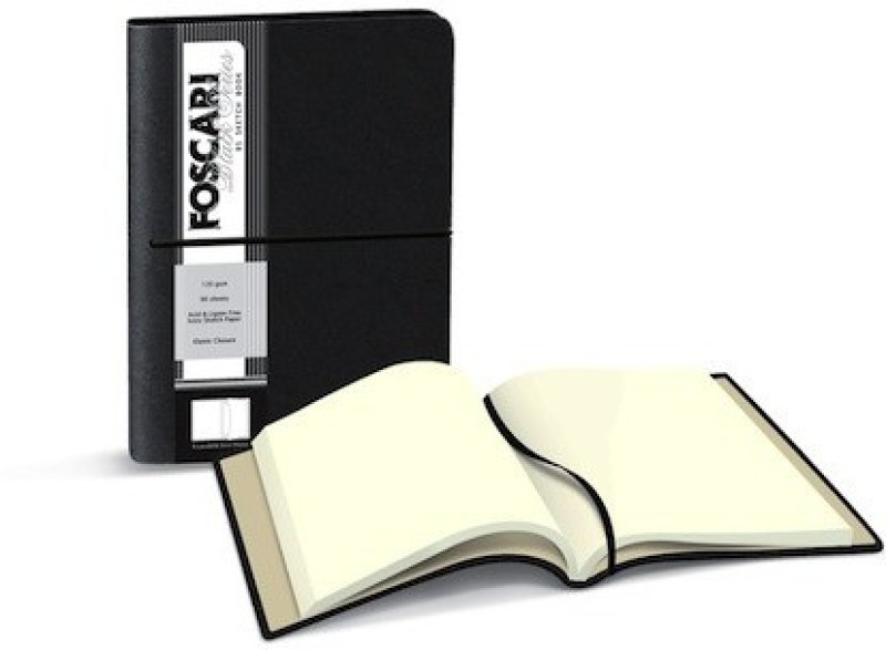 Campap Foscari Black Series Sketch Pad(Black, 120 Sheets)