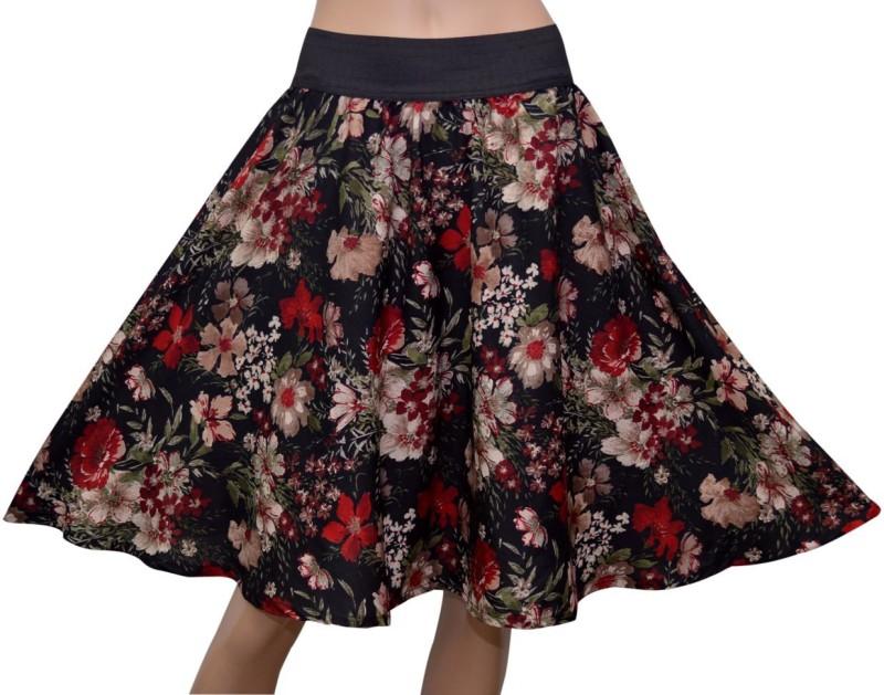 grace-diva-floral-print-womens-gathered-black-skirt