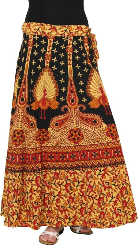 Rvestir Printed Women's Wrap Around Multicolor Skirt
