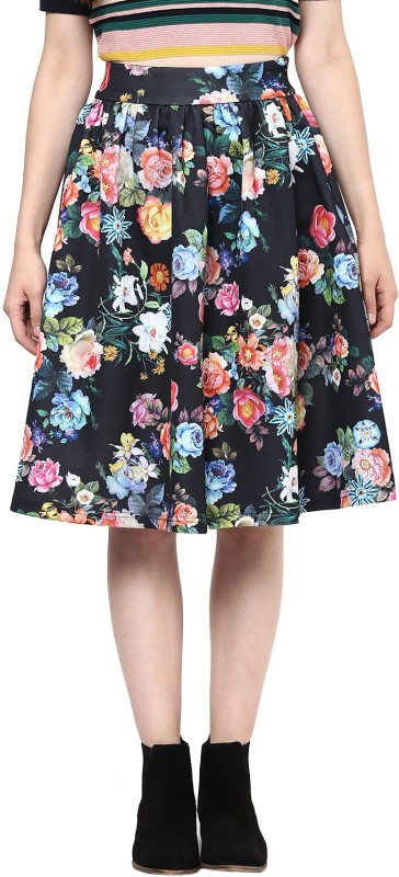 Harpa Floral Print Women's Regular Multicolor Skirt