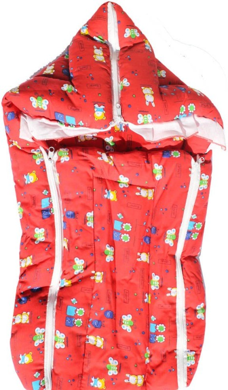 My Angel Baby Bed Carrier Cum Wrap With Double Chain Sleeping Bag(Red)