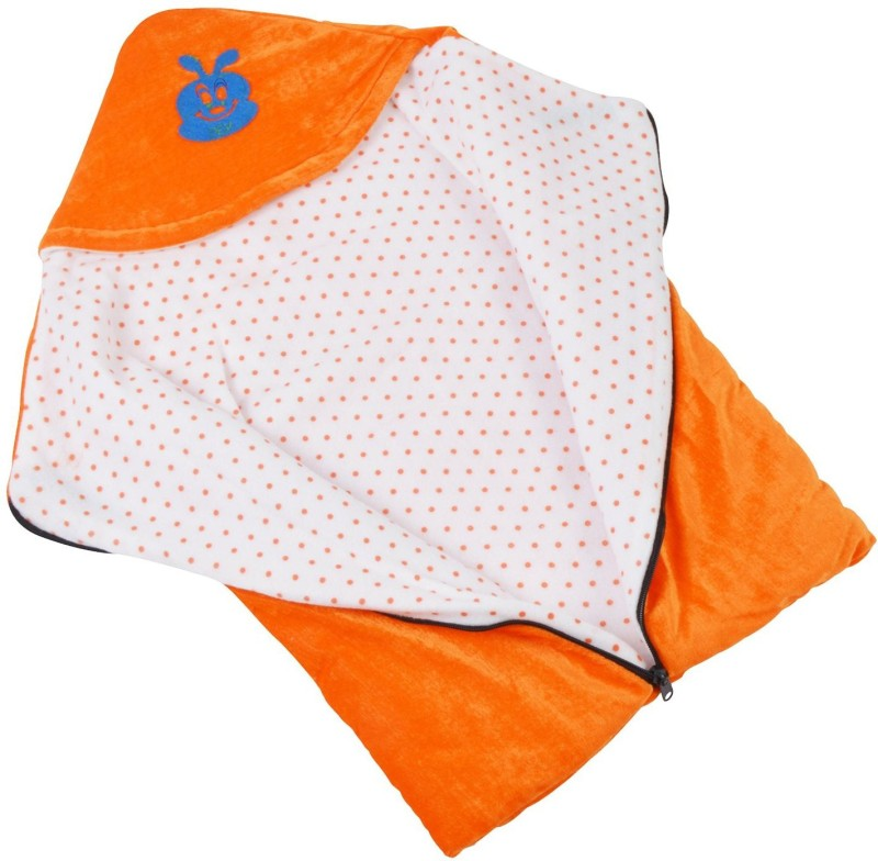 Chhote Janab BABY 3 IN 1 VELVET Sleeping Bag(Orange) BABY 3 IN 1 VELVET