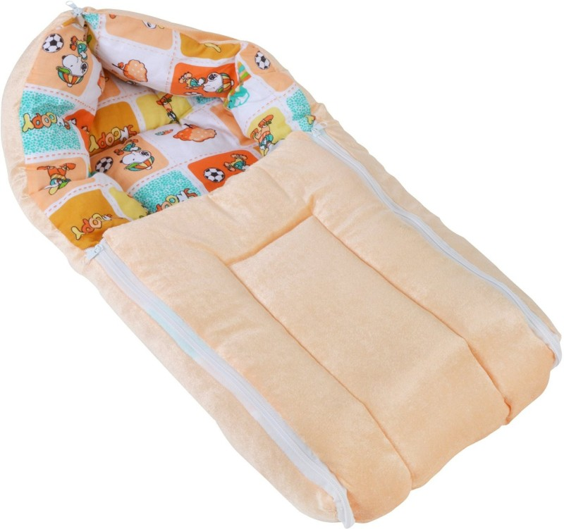 Chhote Janab BABY 3 IN 1 VELVET BED CARRIER/ Sleeping Bag(Gold) BABY 3 IN 1 VELVET BED CARRIER/