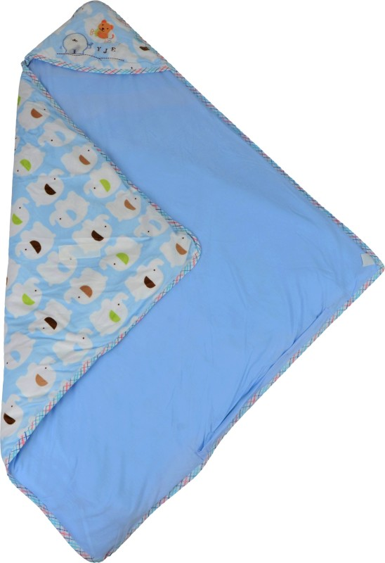 Baby Grow Swaddle Newborn Toddler Elephant Print Sleeping Bag(Blue) Swaddle Newborn Toddler Elephant Print