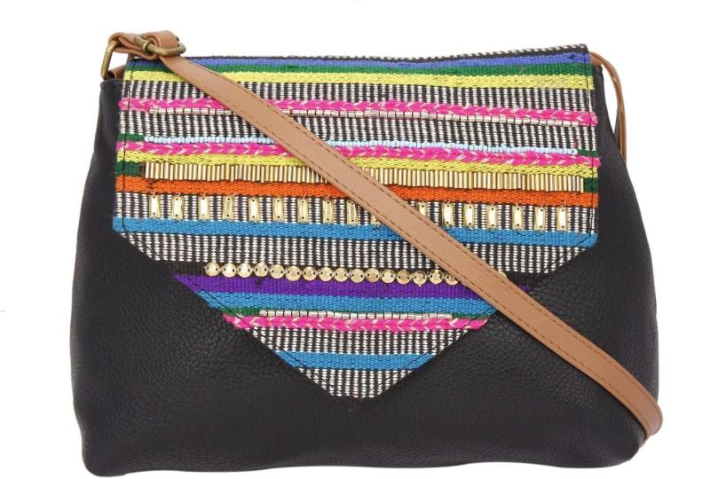 desi-drama-queen-girls-casual-black-pu-sling-bag