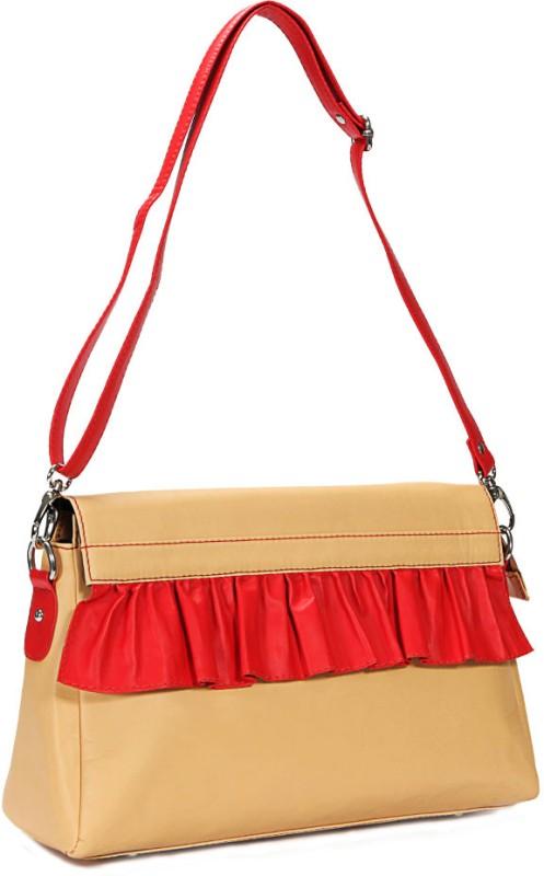 Borsavela Beige Sling Bag