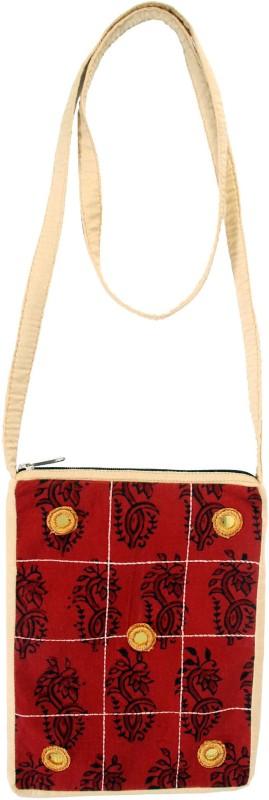 Viniyog Maroon Sling Bag